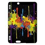 Crazy Multicolored Double Running Splashes Horizon Kindle Fire HDX Hardshell Case