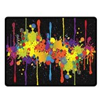 Crazy Multicolored Double Running Splashes Horizon Double Sided Fleece Blanket (Small)