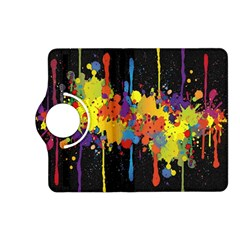 Crazy Multicolored Double Running Splashes Horizon Kindle Fire Hd (2013) Flip 360 Case by EDDArt