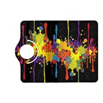 Crazy Multicolored Double Running Splashes Horizon Kindle Fire HD (2013) Flip 360 Case Front