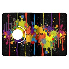Crazy Multicolored Double Running Splashes Horizon Kindle Fire Hdx Flip 360 Case by EDDArt