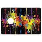 Crazy Multicolored Double Running Splashes Horizon Kindle Fire HDX Flip 360 Case