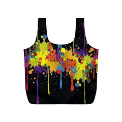 Crazy Multicolored Double Running Splashes Horizon Full Print Recycle Bags (s)