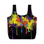 Crazy Multicolored Double Running Splashes Horizon Full Print Recycle Bags (M)  Back