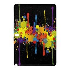 Crazy Multicolored Double Running Splashes Horizon Samsung Galaxy Tab Pro 10 1 Hardshell Case by EDDArt