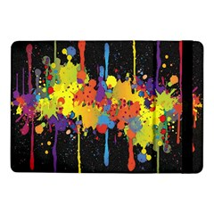 Crazy Multicolored Double Running Splashes Horizon Samsung Galaxy Tab Pro 10 1  Flip Case