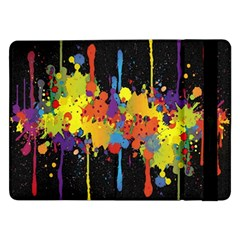 Crazy Multicolored Double Running Splashes Horizon Samsung Galaxy Tab Pro 12 2  Flip Case