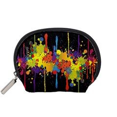 Crazy Multicolored Double Running Splashes Horizon Accessory Pouches (small)