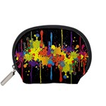 Crazy Multicolored Double Running Splashes Horizon Accessory Pouches (Small)  Front