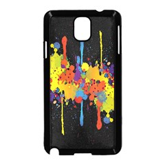 Crazy Multicolored Double Running Splashes Horizon Samsung Galaxy Note 3 Neo Hardshell Case (black) by EDDArt