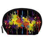 Crazy Multicolored Double Running Splashes Horizon Accessory Pouches (Large)  Front