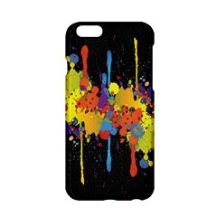 Crazy Multicolored Double Running Splashes Horizon Apple Iphone 6/6s Hardshell Case
