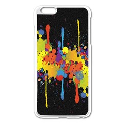 Crazy Multicolored Double Running Splashes Horizon Apple Iphone 6 Plus/6s Plus Enamel White Case by EDDArt