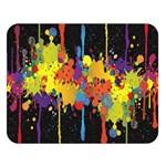Crazy Multicolored Double Running Splashes Horizon Double Sided Flano Blanket (Large)   Blanket Back