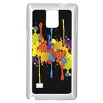 Crazy Multicolored Double Running Splashes Horizon Samsung Galaxy Note 4 Case (White) Front