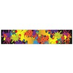 Crazy Multicolored Double Running Splashes Horizon Flano Scarf (Small) Front