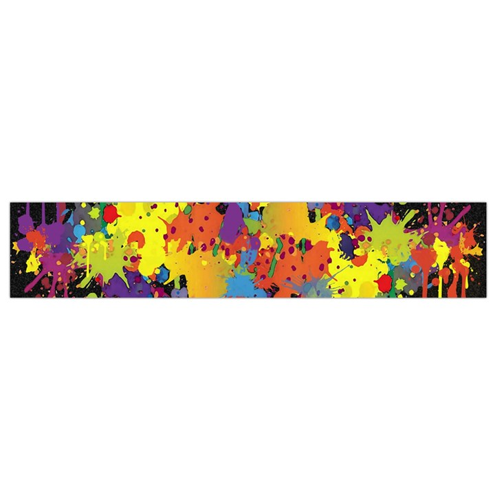 Crazy Multicolored Double Running Splashes Horizon Flano Scarf (Small)