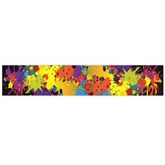 Crazy Multicolored Double Running Splashes Horizon Flano Scarf (large) by EDDArt
