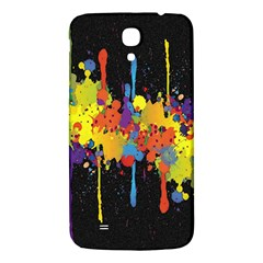Crazy Multicolored Double Running Splashes Horizon Samsung Galaxy Mega I9200 Hardshell Back Case by EDDArt