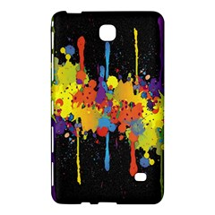Crazy Multicolored Double Running Splashes Horizon Samsung Galaxy Tab 4 (7 ) Hardshell Case  by EDDArt