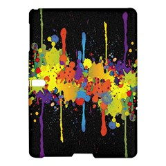 Crazy Multicolored Double Running Splashes Horizon Samsung Galaxy Tab S (10 5 ) Hardshell Case