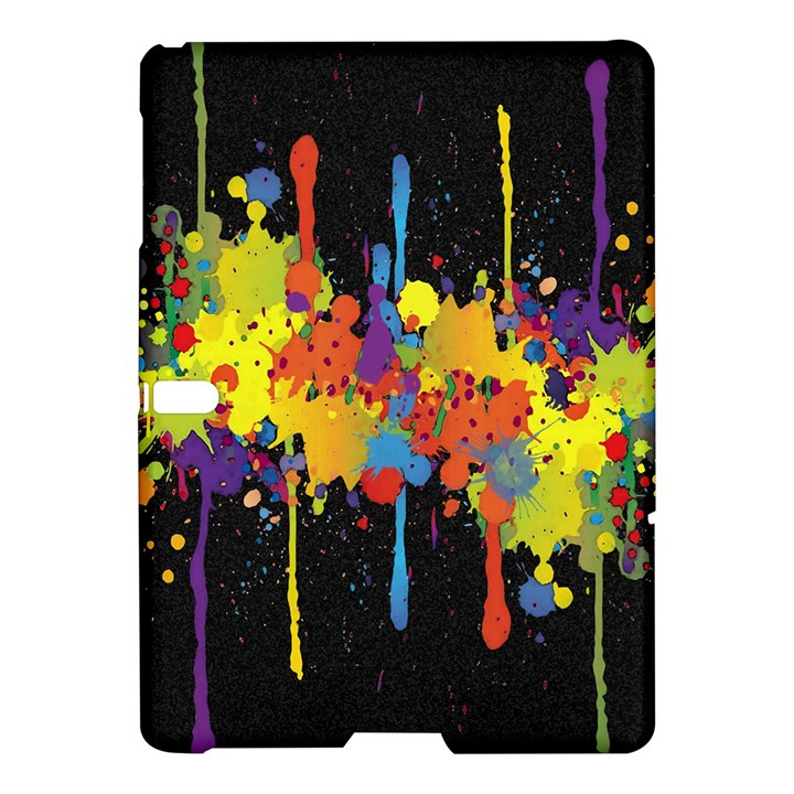 Crazy Multicolored Double Running Splashes Horizon Samsung Galaxy Tab S (10.5 ) Hardshell Case