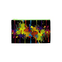 Crazy Multicolored Double Running Splashes Horizon Cosmetic Bag (xs) by EDDArt