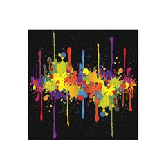 Crazy Multicolored Double Running Splashes Horizon Satin Bandana Scarf by EDDArt