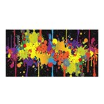 Crazy Multicolored Double Running Splashes Horizon Satin Wrap Front