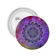 Flower Of Life Indian Ornaments Mandala Universe 2 25  Buttons by EDDArt