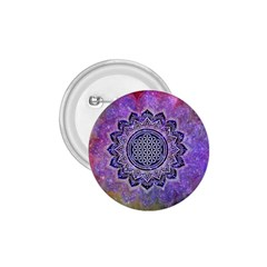 Flower Of Life Indian Ornaments Mandala Universe 1 75  Buttons by EDDArt