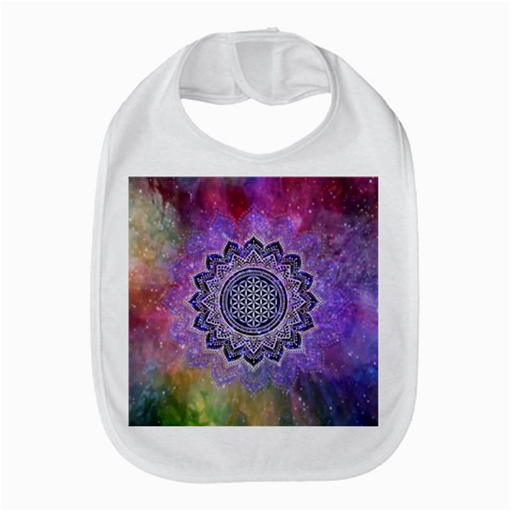 Flower Of Life Indian Ornaments Mandala Universe Bib