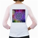 Flower Of Life Indian Ornaments Mandala Universe Girly Raglans Back