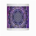 Flower Of Life Indian Ornaments Mandala Universe White Mugs Center