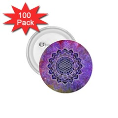 Flower Of Life Indian Ornaments Mandala Universe 1 75  Buttons (100 Pack)  by EDDArt