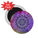 Flower Of Life Indian Ornaments Mandala Universe 2.25  Magnets (100 pack)  Front