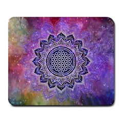 Flower Of Life Indian Ornaments Mandala Universe Large Mousepads by EDDArt