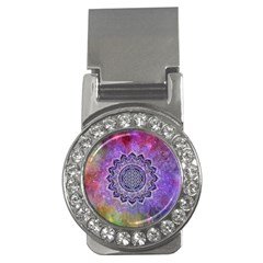 Flower Of Life Indian Ornaments Mandala Universe Money Clips (cz)  by EDDArt