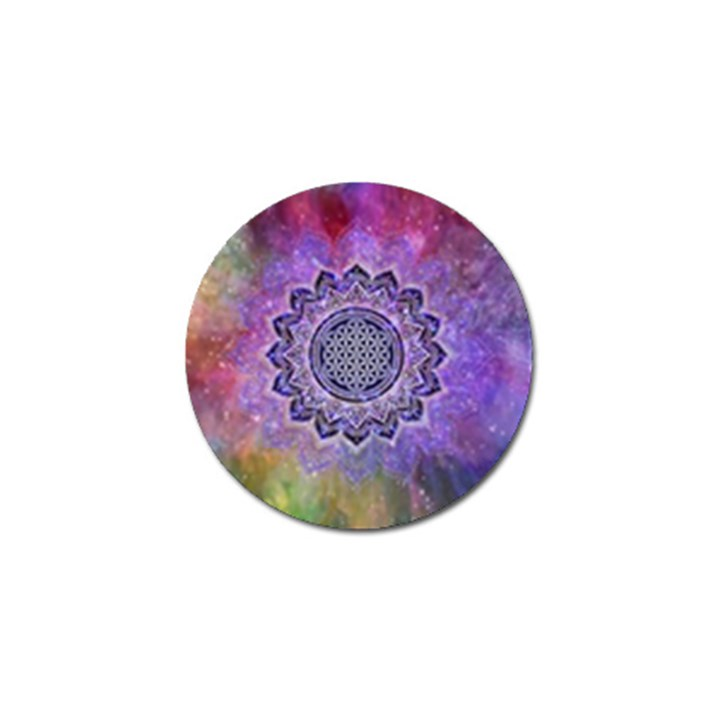 Flower Of Life Indian Ornaments Mandala Universe Golf Ball Marker (4 pack)