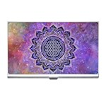 Flower Of Life Indian Ornaments Mandala Universe Business Card Holders Front