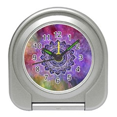 Flower Of Life Indian Ornaments Mandala Universe Travel Alarm Clocks by EDDArt