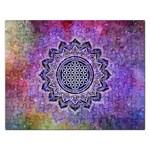 Flower Of Life Indian Ornaments Mandala Universe Rectangular Jigsaw Puzzl Front