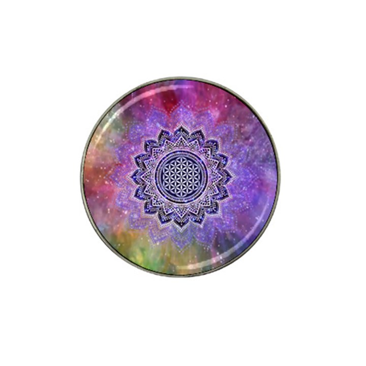 Flower Of Life Indian Ornaments Mandala Universe Hat Clip Ball Marker (4 pack)