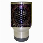 Flower Of Life Indian Ornaments Mandala Universe Travel Mug (Silver Gray) Center