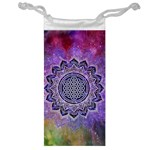 Flower Of Life Indian Ornaments Mandala Universe Jewelry Bags Front