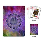 Flower Of Life Indian Ornaments Mandala Universe Playing Card Back
