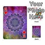 Flower Of Life Indian Ornaments Mandala Universe Playing Cards 54 Designs  Front - HeartK