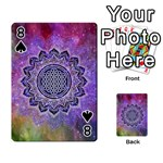 Flower Of Life Indian Ornaments Mandala Universe Playing Cards 54 Designs  Front - Spade8