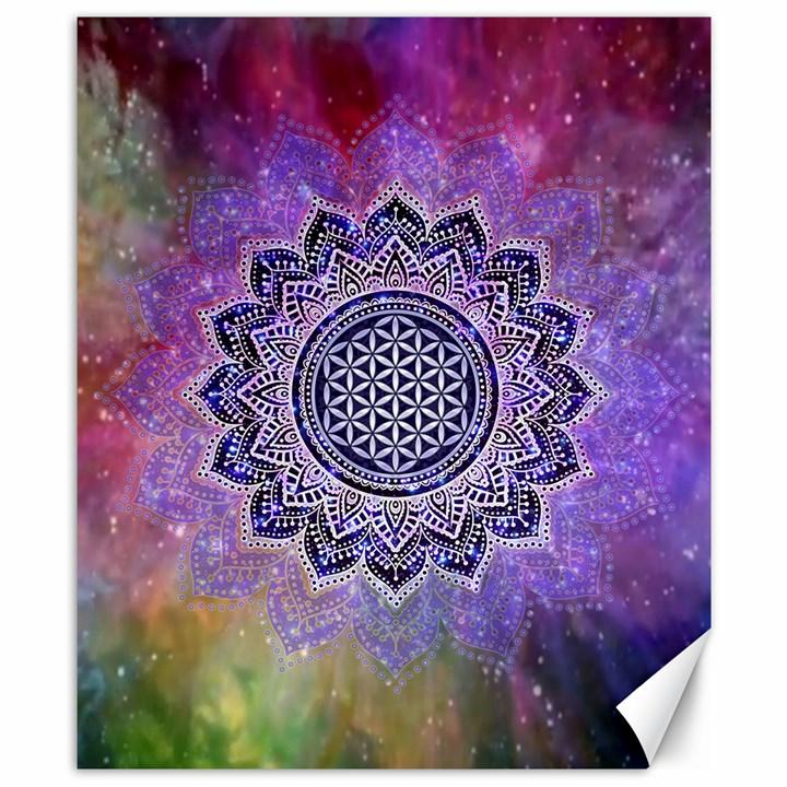 Flower Of Life Indian Ornaments Mandala Universe Canvas 8  x 10