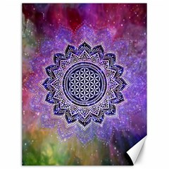Flower Of Life Indian Ornaments Mandala Universe Canvas 12  X 16   by EDDArt